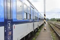 Vlak Českých drah na nádraží. Ilustrační foto