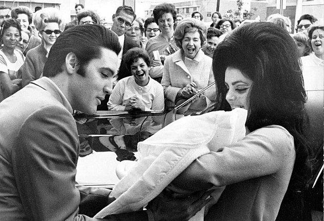 Elvis a Priscilla s dcerou Lisou Marií