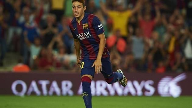 Munir El Haddadi slaví gól