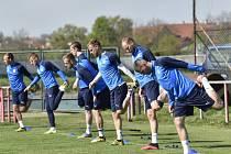 Trénink fotbalistů Slovácka