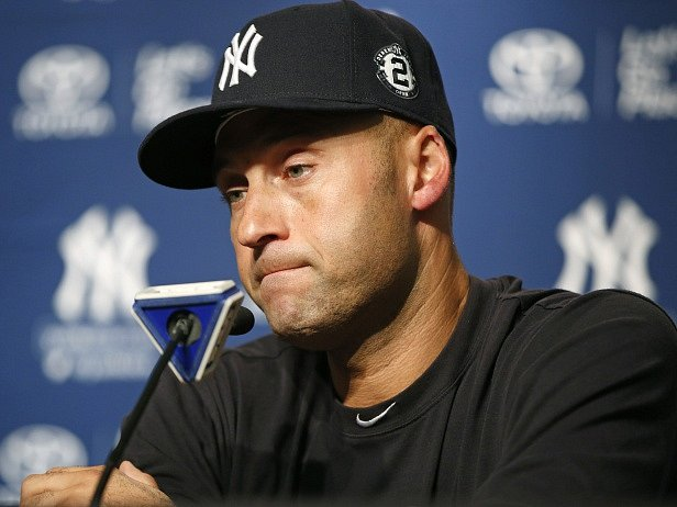Derek Jeter a jeho poslední tisková konference po zápase na stadionu New Yorku Yankees