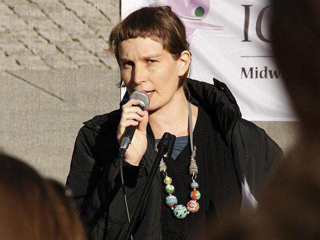 Ředitelka Unie porodních asistentek Kateřina Hájková Klíčová.