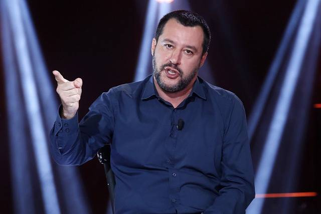 Italský ministr vnitra a vicepremiér Matteo Salvini