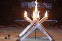 Závěrečný ceremoniál zimních olympijských her 2010.