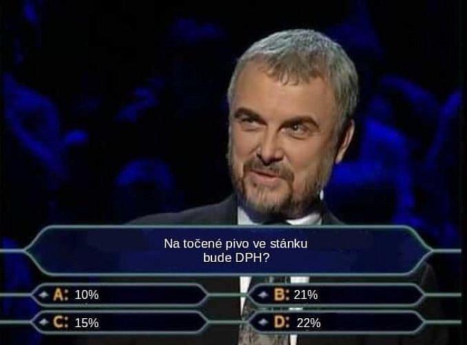 Chcete být milionářem? Odhadněte správně DPH u piva