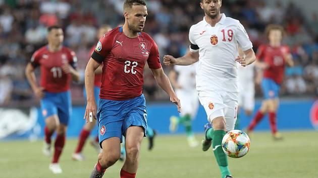 Kvalifikační zápas ME 2020 ve fotbale mezi Českem a Bulharskem na Letné. Filip Novák.