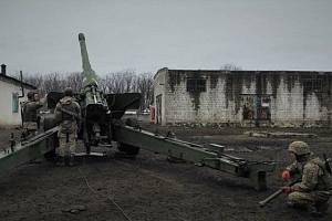 Vojáci na rusko-ukrajinské hranici.