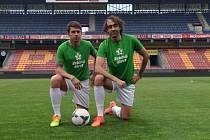 Patrony Zeleného života jsou i bývalý fotbalový reprezentant Zdeněk Grygera (vlevo) a režisér Jakub Kohák.