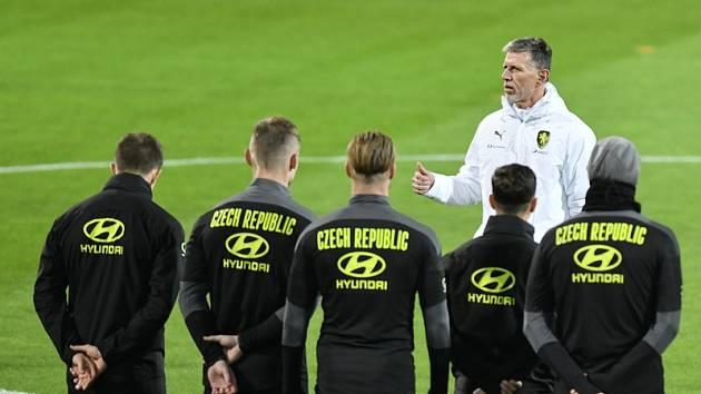 Fotbalisté v přípravě na Euro.