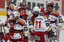 Ilustrační foto. Hokejisté Slavie se dočkali výhry po šesti prohraných zápasech.