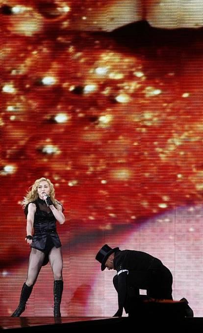 Madonna při koncertu