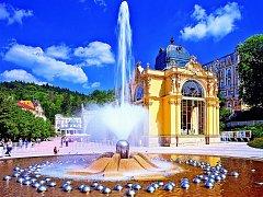 Zpívající fontána v Mariánských Lázních.