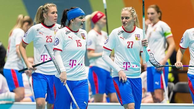 Lotyšsko - Česko 2:14, Češky měly po zápase oprávněnou radost.