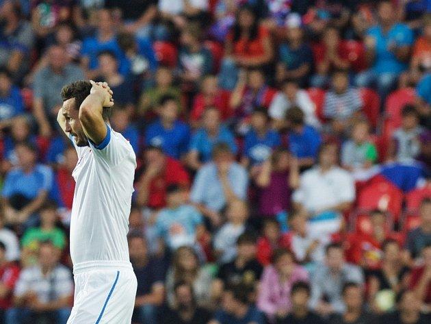 Tomáš Sivok po své gólové šanci.