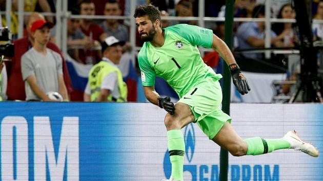 Brazilský gólman Alisson Ramses Becker známý jako Alisson
