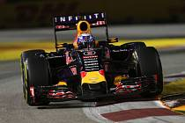 Daniel Ricciardo dojel ve Velké ceně Singapuru druhý.