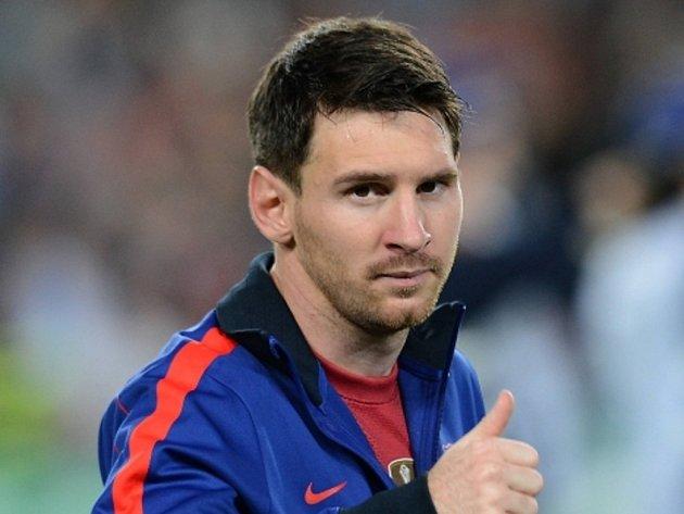 Střelec Barcelony Lionel Messi.