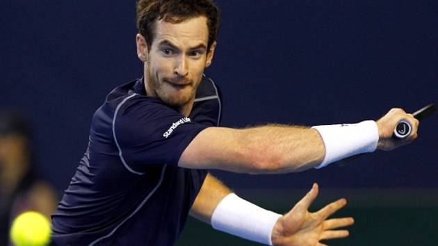 Andy Murray v Davis Cupu proti Japonsku.