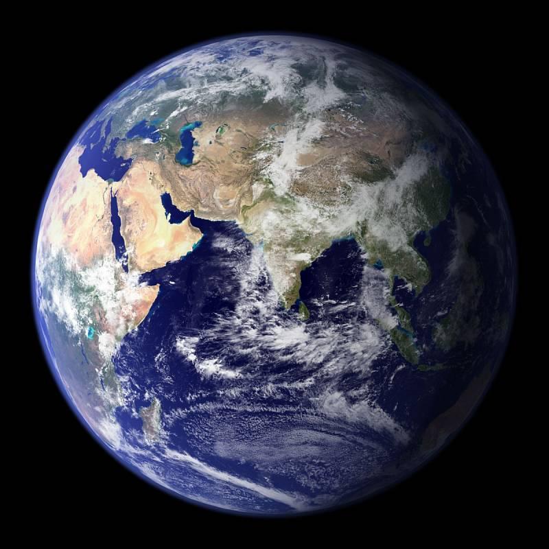Východní polokoule planety Země
