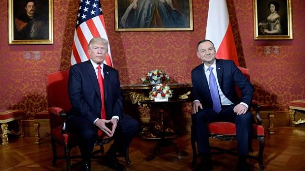 Donald Trump s polským prezidentem Andrzejem Dudou ve Varšavě