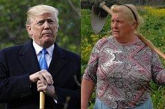 Galicijská žena je podobná americkému prezidentovi Donaldu Trumpovi.