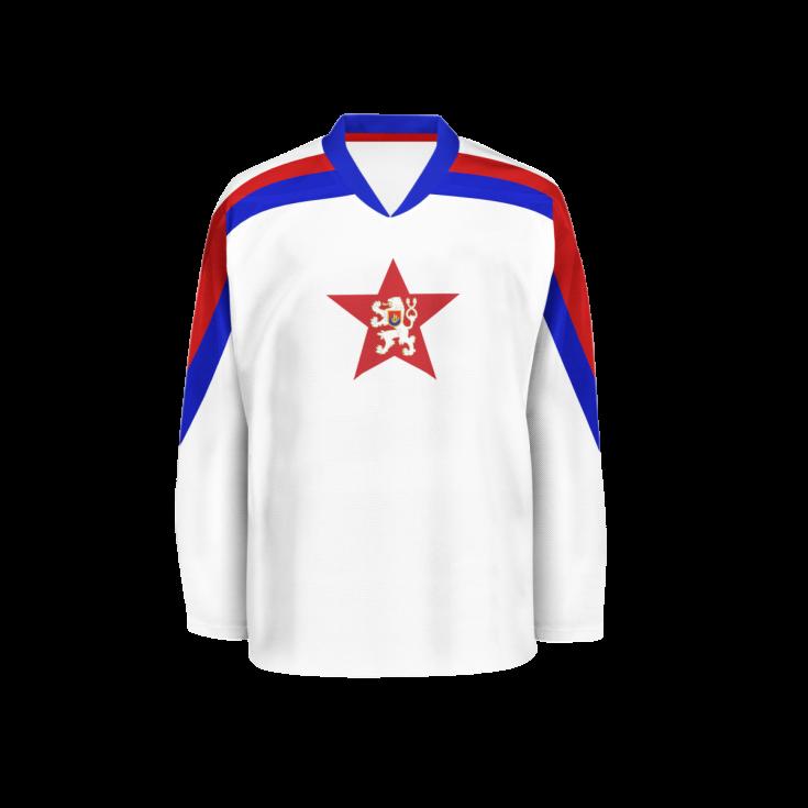 Hokejový dres z roku 1959.