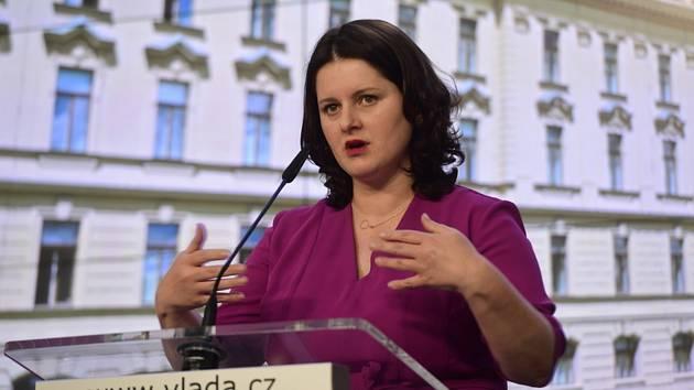 Ministryně práce a sociálních věcí Jana Maláčová (ČSSD).