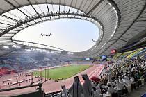 Diváci na stadionu v Dauhá.