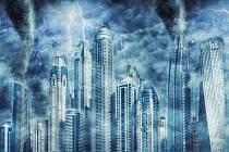 Déšť v Dubaji. Ilustrační snímek