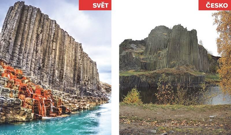 Studlagil Canyon (Island) x Panská skála.
