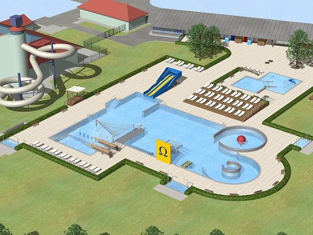 Původně schválený investiční záměr na výstavbu venkovních bazénů u CPA Delfín v celkové výši 160 milionů korun se smrskl do výrazně úspornější varianty s maximálně 50milionovým rozpočtem.