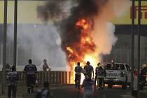 Hořící vůz Romaina Grosjeana