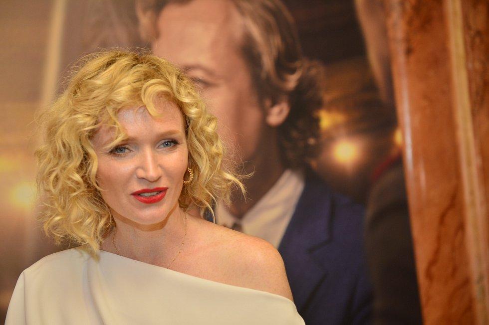 Anna Geislerová na premiéře filmu Havel