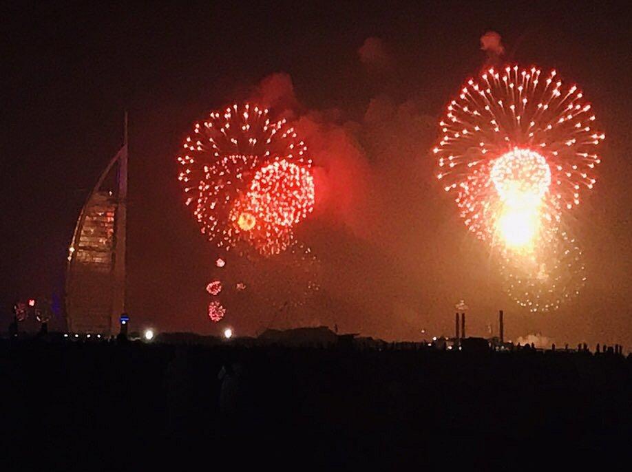 Novoroční ohňostroj v Dubaji