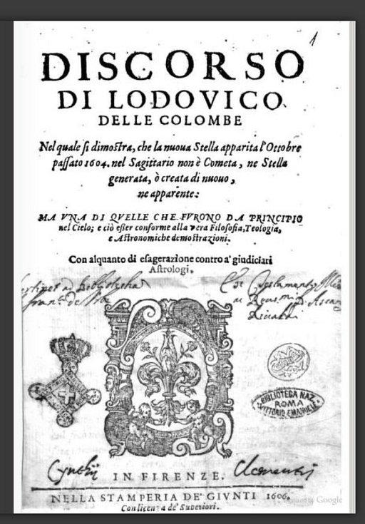Jeden z prvních popisů supernovy, jejíž explozi pozoroval v roce 1604 astronom Jan Kepler