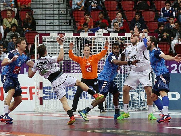 Ondřej Zdráhala v utkání proti Francii