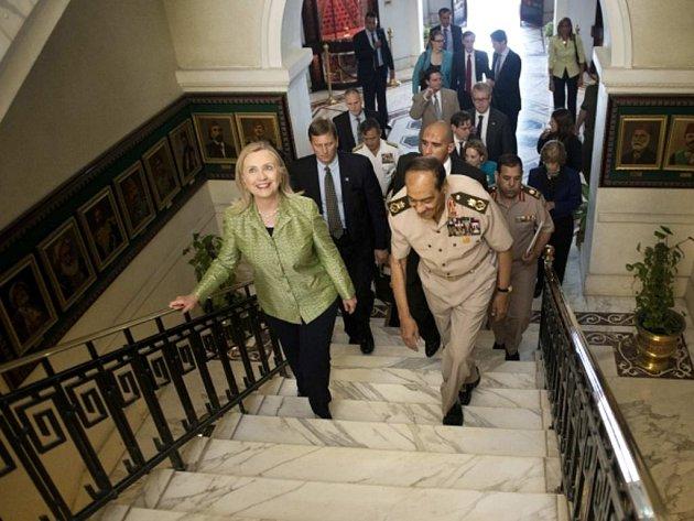 Hillary Clintonová a Hussein Tantawi.