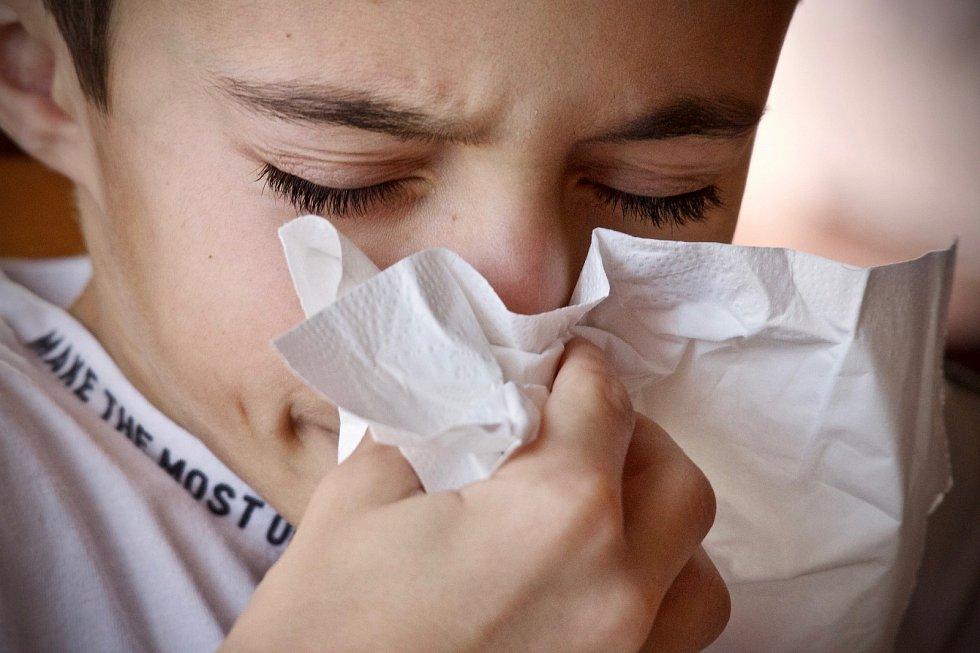Alergie, zvláště alergická rýma, může mít podobné příznaky jako nachlazení.
