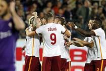 Radost hráčů AS Roma.