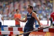 Světový rekordman tyčkař Renaud Lavillenie.