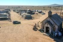 Bonanza Creek Ranch, kde se natáčí film Rust. Herec Alec Baldwin během filmování zastřelil 22. října 2021 kameramanku a zranil režiséra