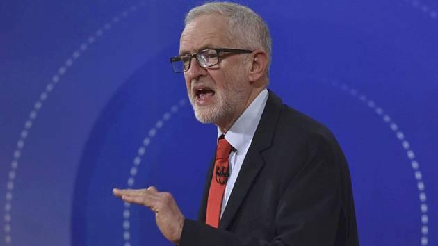 Lídr Labouristické strany Jeremy Corbyn v debatě s občany vysílané BBC 22. listopadu 2019