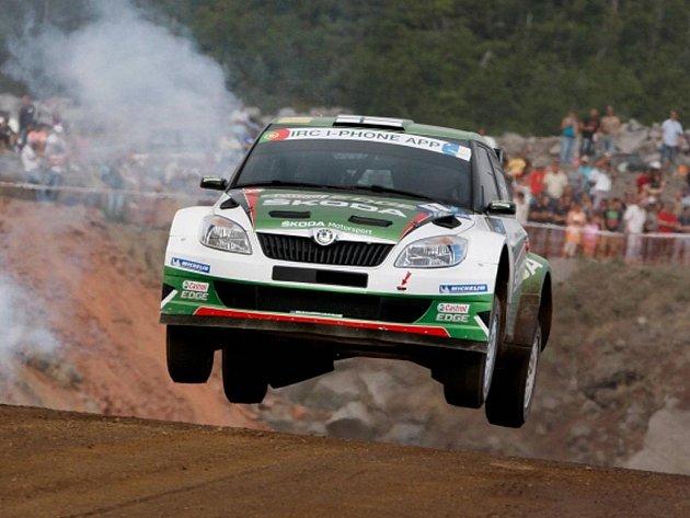 Juho Hänninen na Rallye Azory.