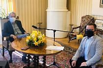 Prezident Miloš Zeman při rozhovoru pro Frekvenci 1