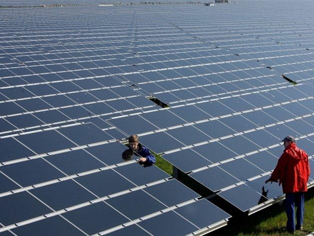 Solární panely.