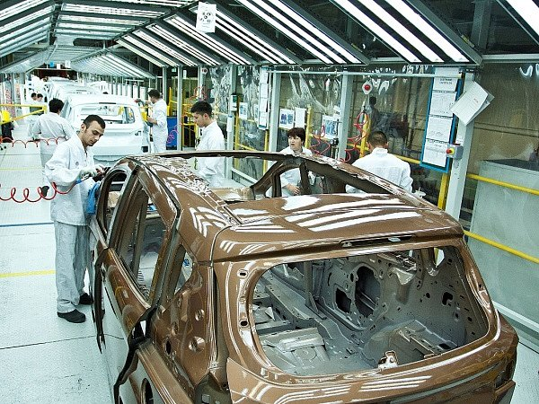 Výroba Fordu B-Max.