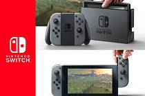 Herní konzole Nintendo Switch.