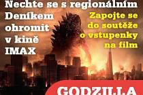 Zapojte se do soutěže o 20 vstupenek do kina  na film Godzilla.