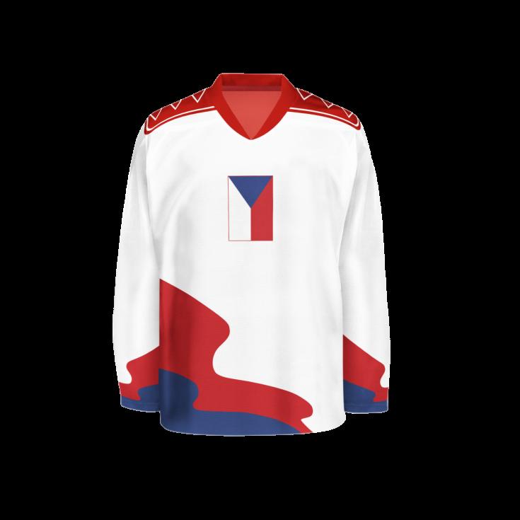 Hokejový dres z roku 1990.