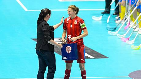 Švédsko - Česko, v roce 2019 sehrála Eliška Krupnová stý zápas za reprezentaci